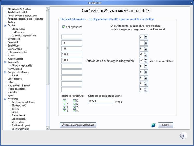 opciós árképzési programok